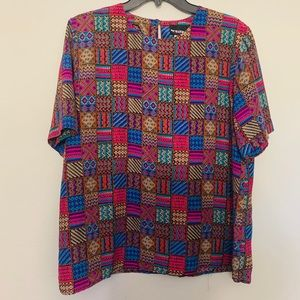 Vintage| Notation Abstract Blouse